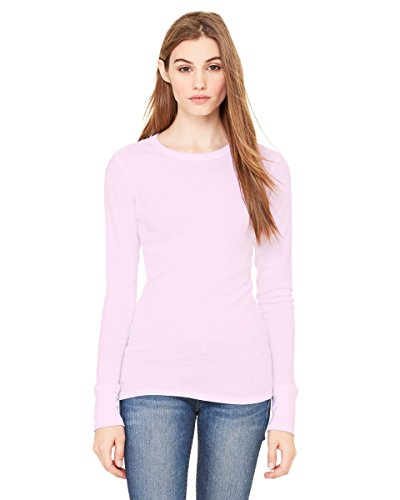 - Ladies' 4.5 oz. Irene Long-Sleeve Thermal, Soft Pink, 2XL