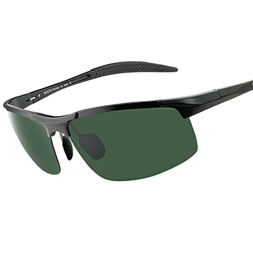Duco Sport Polarized Sunglass For Men HD Driver Sunglass UV Protection Durable Frame - Heads Sunglasses For Large