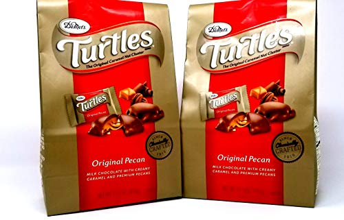 Demet's Original Turtles - Pecan, Chocolate, and Caramel 35 oz Value Pack (2 x 17.5 oz Bags) (2 Pack) (Chocolate Turtles Candy)
