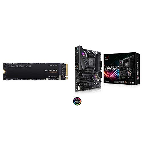 WD_Black SN750 500GB NVMe Internal Gaming SSD & ASUS ROG Strix B450-F Gaming Motherboard (ATX) AMD Ryzen 2 AM4