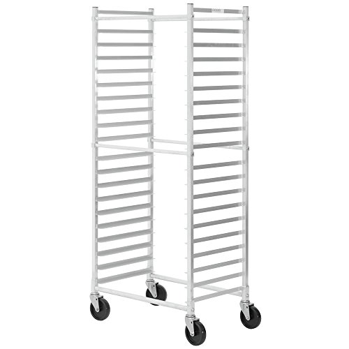 Load Bun Rack Pan (HUBERT Aluminum Side Load Bun Pan Rack for 20 Pans - 28