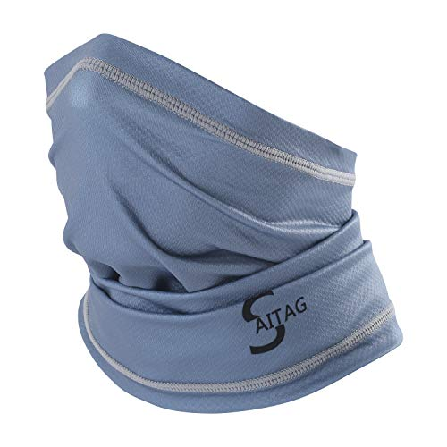 Sun UV Dust Protection Breathable Elastic Face Scarf Mask for Hot Summer Cycling Hiking Fishing (Gray)