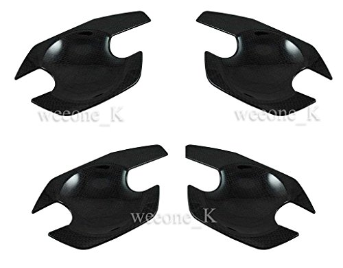 Carbon Door Handle Bowl Inserts Cover for Nissan Frontier Navara D40 2005-2012
