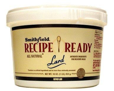 Smithfield Recipe Ready Lard (Pack of 2) 16 oz Tubs