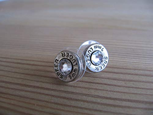 - 9mm Earrings with Swarovski Crystal Accents