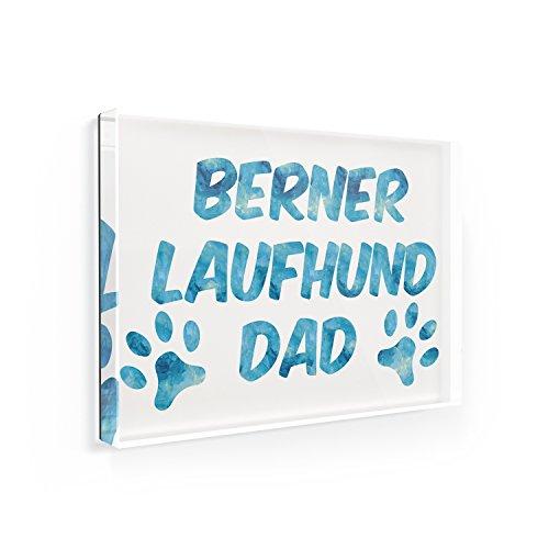 Fridge Magnet Dog & Cat Dad Berner Laufhund - NEONBLOND (Magnet Berner)