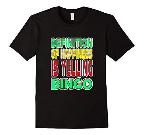 Costume Halloween Lady Bingo (Funny Definition Of Happiness Is Yelling Bingo T-shirt)
