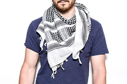 Woven Travel Scarf (White/Black) by Blue Forest Travel Gear (Image #1)