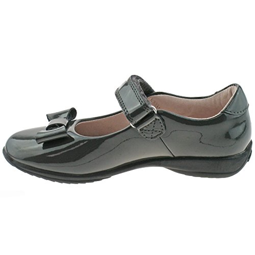 28 Fitting School DR01 Kelly LK8206 Shoes F 10 Patent Grey Perrie UK Lelli ZUqCv