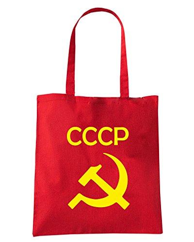 T-Shirtshock - Bolsa para la compra T0619 cccp comunismo politica Rojo