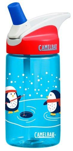 Camelbak eddy Kids .4L BPA Free Drinking Water Bottle w/ Bite Valve & Straw Excellent Winter Holiday Christmas Gift For Children (Ice Fishing (Penguin Stroller)