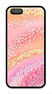 Dreamy Pink Flowers 2 Case For Iphone 5/5S Cover Case Funny Lovely Best Cool Customize Black Cover