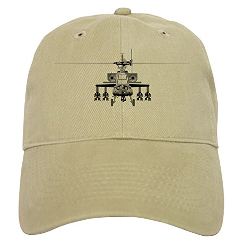 Helicopter Hats (CafePress - Apache Helicopter - Head-On Baseball - Baseball Cap with Adjustable Closure, Unique Printed Baseball Hat)