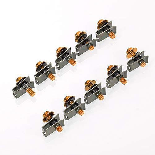 - Docooler1 Fairing Kit, 10pcs 5mm Aluminium Motorcycle M5 Fairing Bolts Set Fastener Clips Screw Nuts Kit