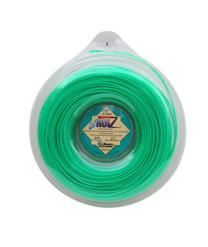 LoNoiz .080-Inch-by-400-Foot Spool Commercial Grade Spiral Twist Quiet 1-Pound Grass (Trimmer Line Green)
