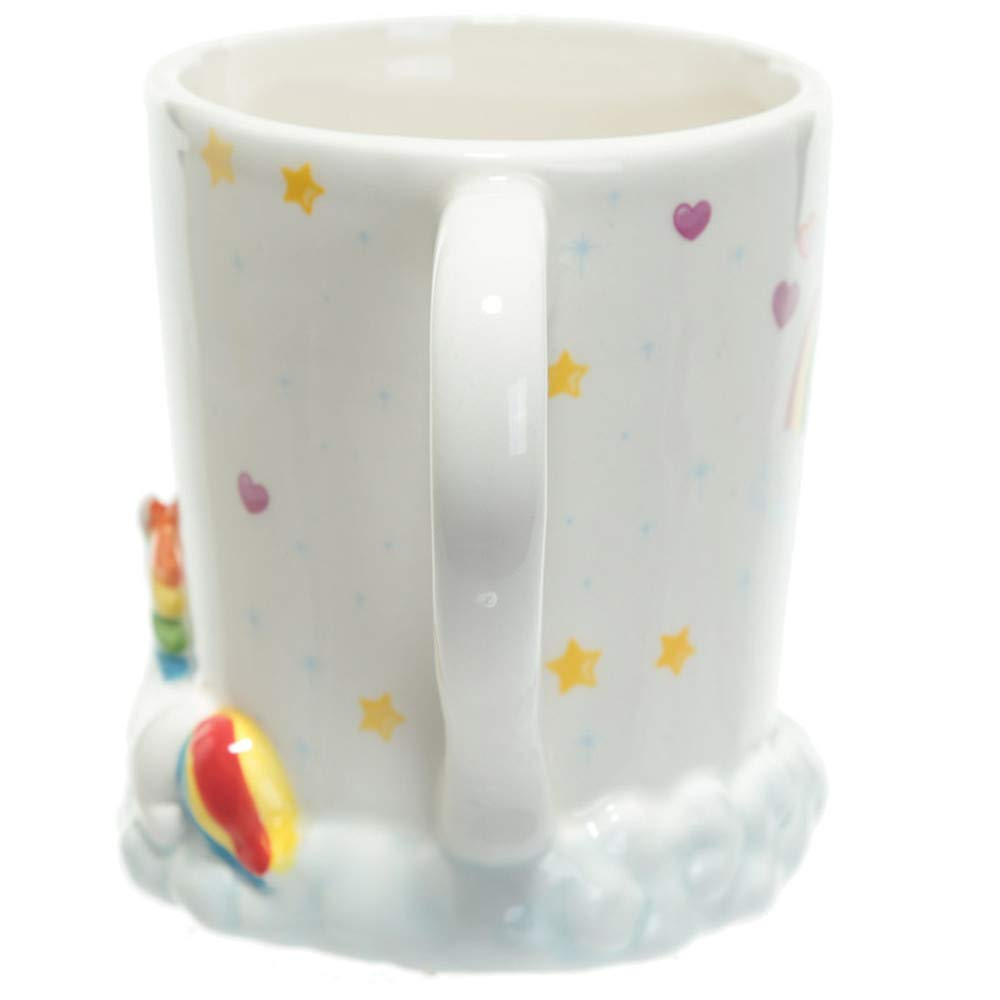 Magical 3D Microwave Hand Painted Rainbow Unicorn Mug,Owl Mug for Christmas Gifts, Birthday Gifts, Party Favors (I Don\'t Believe in Humans)