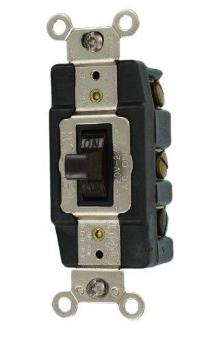 (Leviton 1288 30-Amp 120-Volt Toggle Double-Pole AC Quiet Switch, Brown)
