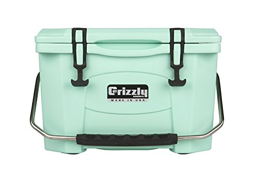 Grizzly 20 quart Rotomolded Cooler, Seafoam ()