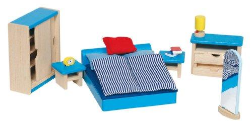 Goki 51906 - Schlafzimmer, 14-teilig, Puppenhausmöbel: Amazon.de ...