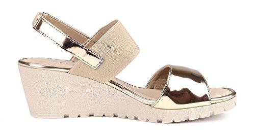 The Or Compensée Femme Platine Semelle Sandale Flexx Bia rx7SrY