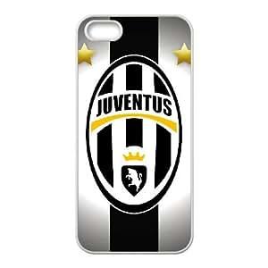 Juventus 001 iPhone 5 5s Cell Phone Case White TPU Phone Case RV_579322