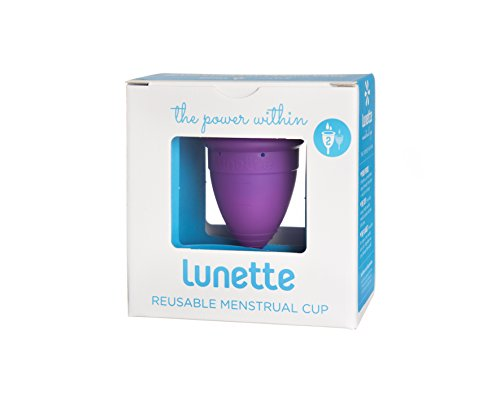 Lunette Menstrual Cup - Violet - Model 2 for Medium to Heavy Menstruation - Natural Alternative for Tampons and Sanitary Napkins