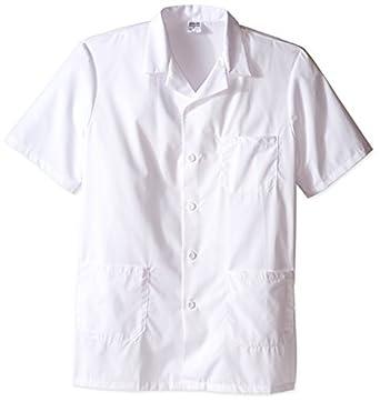 worklon 3409 poliéster/algodón Unisex manga corta farmacia bata de laboratorio con cierre de botón, extragrande), color blanco: Amazon.es: Amazon.es