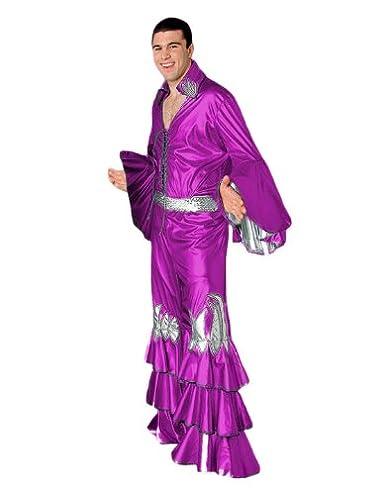 4b818557d Tabi's Characters Men's Disco Shirt Theatrical Quality Costume, Fuchsia,  Large