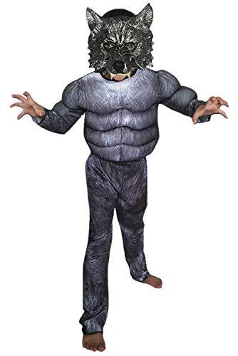 SUPERCOS Child Horror Werewolf Costume Muscle Wolf Dress