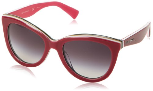 D&G Dolce & Gabbana Women's 0DG4207 Cat-Eye Sunglasses,White Multilayer Turquoise,55 - D&g Sunglasses Cat Eye