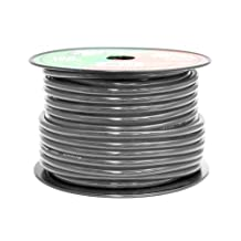 Pyramid RPB4100 4 Gauge 100 Feet Black Ground Wire OFC  (Black)