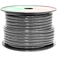 Pyramid RPB4100 Ground Wire 4-Gauge, 100 Feet, Flexible, OFC Cable Wire, Translucent (Black)