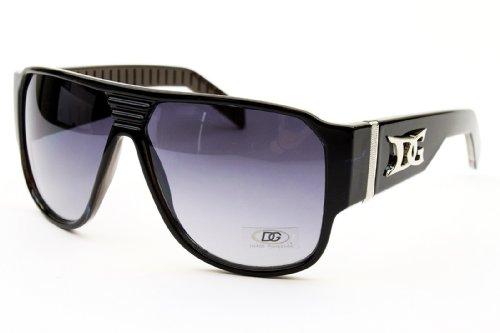 D1148 Dg Eyewear Turbo Aviator Pilot Gangster Fashion Sunglasses (black/blue, - Eyeglasses Brands Celebrity