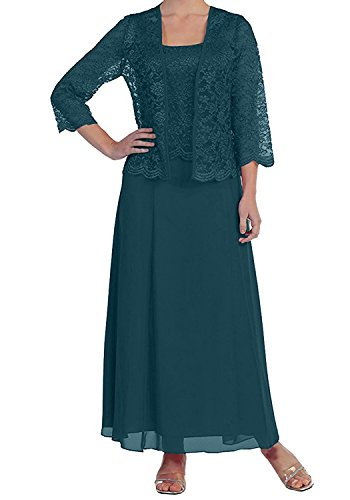 9614eca45b3 ... Lace Mother of The Bride Dress Plus Size Chiffon Long Evening Dress  with Jacket(US20W