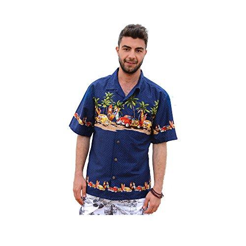 反対に期限切れコンサルタント【Palmwave】 ハイビスカス柄 アロハシャツ 半袖シャツ ハワイアンシャツ 総柄シャツ 綿素材 大きいサイズ メンズおしゃれ 上品 C90-A2447