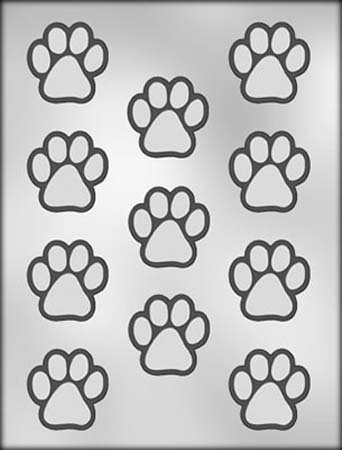 Plastic Dog Mold (CHOC MOLD PAW PRINT 1.5 IN CH11275 by Chocolate Molds)