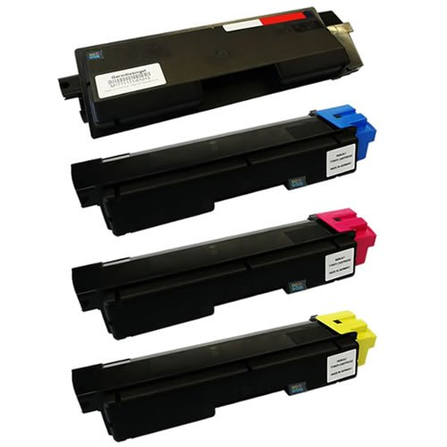 Do It Wiser Compatible Toner Cartridges Set Replacement For Kyocera FS-C5150DN - TK-582K TK-582C TK-582M TK-582Y - (Black Cyan Magenta Yellow - Black Yield 3,500 pages - Color Yield 2,800 pages)