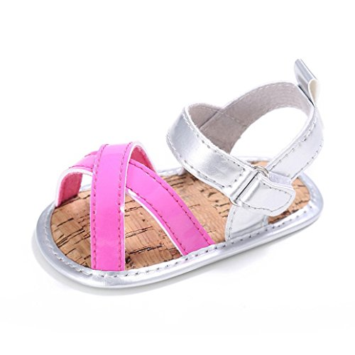 GBSELL Baby Toddler Girls Kid Outdoors Sandals First Walkers Shoes (Hot Pink, 12~18 Month)