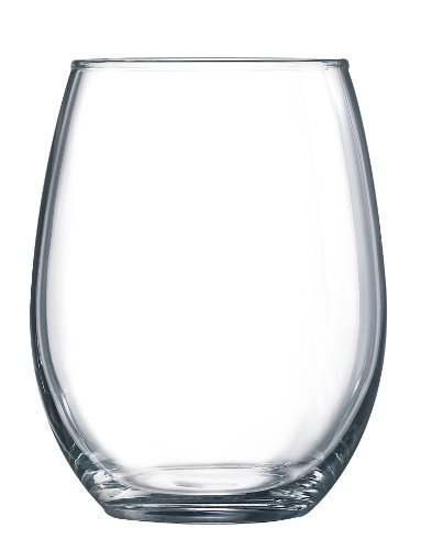 Luminarc 15 Ounce Stemless White and Red Wine Glasses, Set of 12 Tumbler Glasses Set. Best Wine Goblet Glasses Bulk. by Arc International