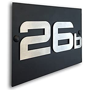 Tuneon Exklusive Edelstahl 3D HAUSNUMMER Edelstahl rostfrei ...