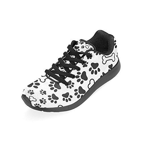 para 3 mujer negro color de Zenzzle Negro de Zapatillas Lona running qSaCRxw6PX