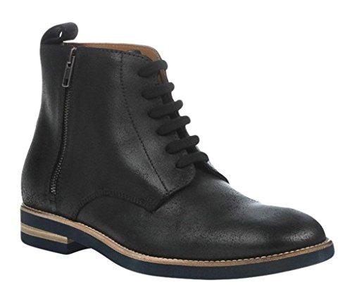 Maison Margiela 22 Side-Zip Brogued Leather Lace-Up Boot (10 US; 43 EU) - Margiela Martin Black Maison
