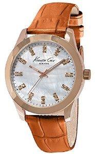 Kenneth Cole New York Three-Hand Leather - Orange Women's watch #KCW2023
