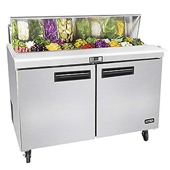 Amazon.com: Refrigerador de mesa para preparar sándwich de 2 ...