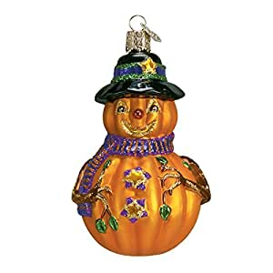 Old World Christmas Mr. Jack O' Lantern Glass Blown Ornament