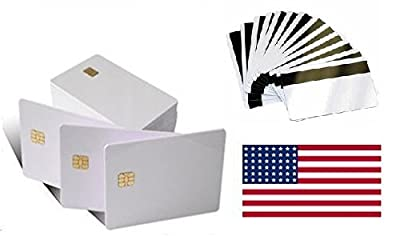 Sle4442 Chip Card With Magnetic Stripe - 20 X Pieces - USA Distributor !