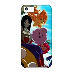 Leoldfcto744 Iphone 5c Well-designed Hard Cases Covers Adventure Time Protector