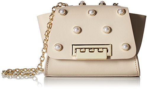 ZAC Zac Posen Eartha Mini Chain Crossbody Pearls, Sand Dollar
