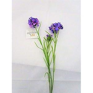 MARJON FlowersArtificial Purple Meadow Cornflower Stem - Fake Flower stem 98
