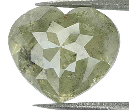 2.07 Ct Natural Loose Diamond Heart Grey Color 7.80 MM L7538 ()